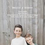 Primera Comunión Emilio y Alonso