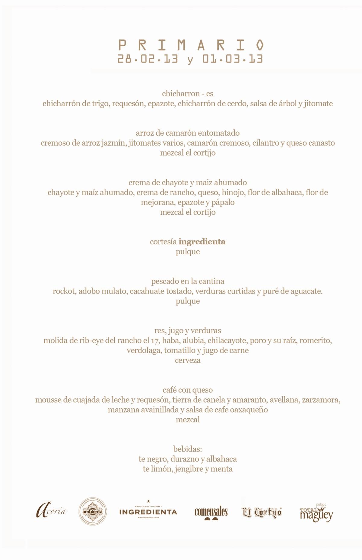menu primario
